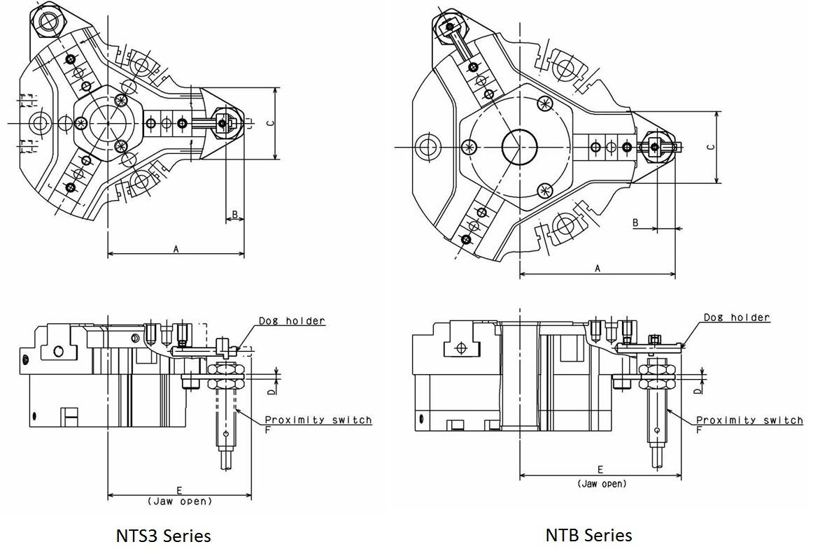 Proximity Switch Bracket for NTS3 & NTB